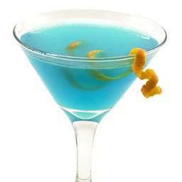 Martini glass with lemon twist