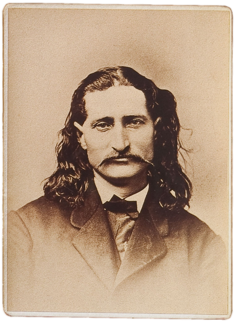 Old time brown and white picture of James Hickok