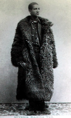 African American man in buffalo jacket. It is Isaiah Dorman