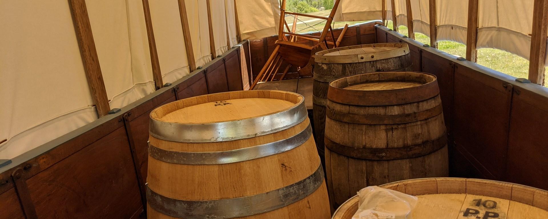 Inside of an Oregon Trail Wagon